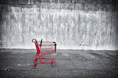 Red Cart Art Print