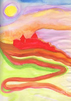 Archetype Painting - Red Castle by First Star Art