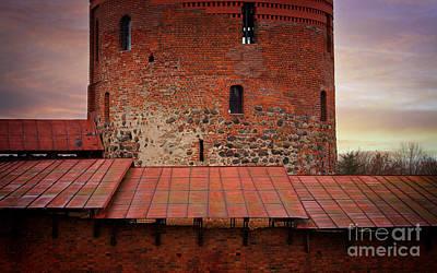 Red Castle Walls Art Print by Jolanta Meskauskiene