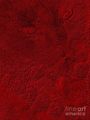 Digital Art - Red Cat by Oksana Semenchenko