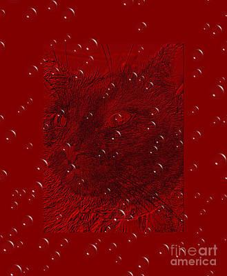 Digital Art - Red  Celebration by Oksana Semenchenko