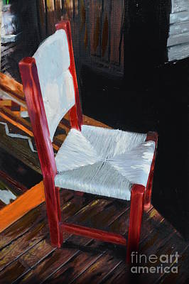 Photograph - Red Chair by Brian Boyle
