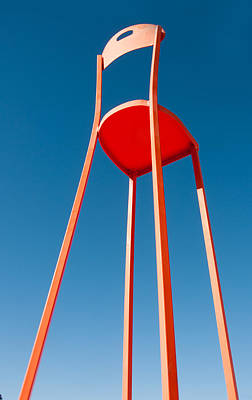 Highchair Photograph - Red Chair by Carolyn Dalessandro