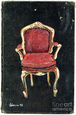 Red Chair Art Print by Cathy Peterson