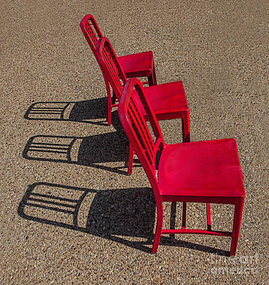 Photograph - Red Chairs by Shirley Mangini