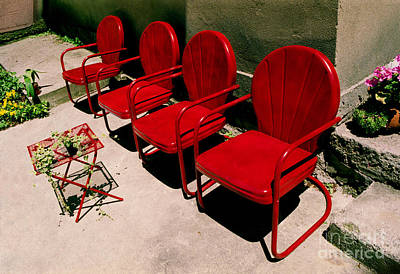 Red Chairs Art Print