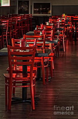 Print featuring the photograph Red Chairs by Vicki DeVico