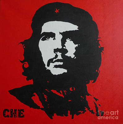 Red Che Art Print by ID Goodall