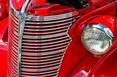 Red Chevrolet  Art Print