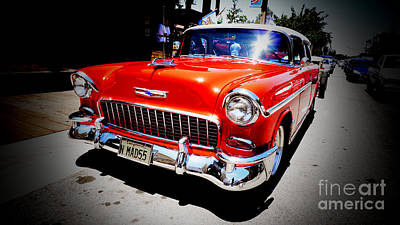 Red Chevrolet Bel Air Art Print by Nina Prommer