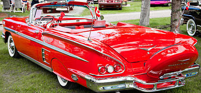 Art Print featuring the photograph Red Chevrolet Classic by Mick Flynn