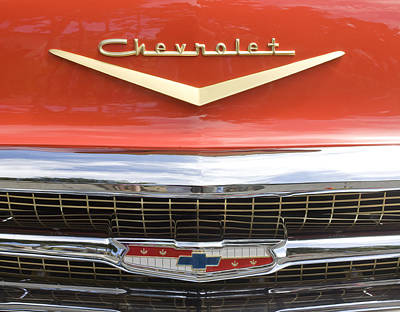 Photograph - Red Chevrolet by Mark Greenberg