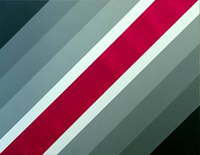 Painting - Red Chevron by Thomas Gronowski