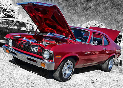 Red Chevy Nova Art Print