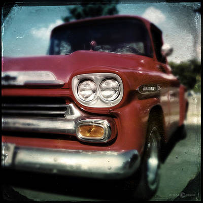 Photograph - Red Chevy Pickup by Tim Nyberg