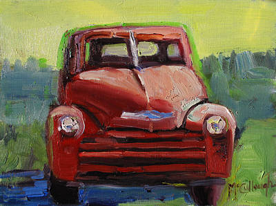 Painting - Red Chevy by Susan McCullough