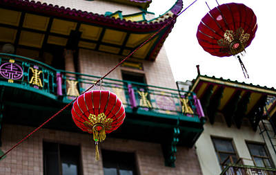 Red Chinese Lanterns Art Print by SFPhotoStore
