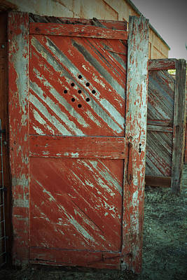 Photograph - Red Chipped Door by Holly Blunkall