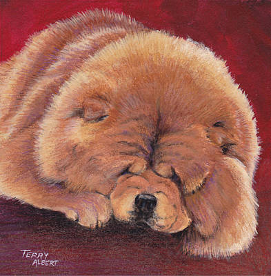 Painting - Red Chow by Terry Albert