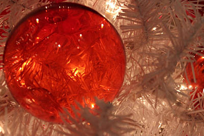 Art Print featuring the photograph Red Christmas Ornament by Lynn Sprowl