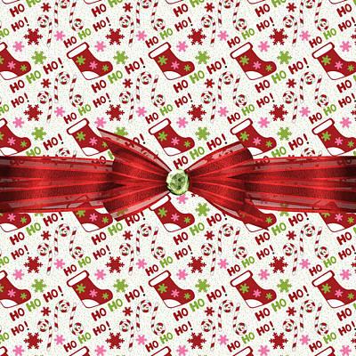 Candy Digital Art - Red Christmas Stockings by Debra  Miller