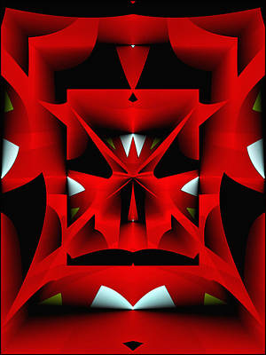 Digital Art - Red Christmas Tree by Gillian Owen
