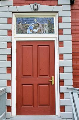 Photograph - Red Church Door by Joel E Blyler