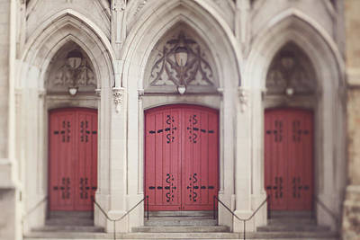 Photograph - Red Church Doors by Heather Green