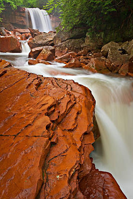 Photograph - Red Chute At Douglas Falls by Michael Blanchette