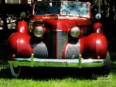 Red Classic Cadillac Art Print by Lainie Wrightson