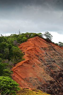 Photograph - Red Cliff At Waimea by Christi Kraft
