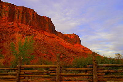 Red Cliffs Near Moab Ut Art Print by Jerry Cahill