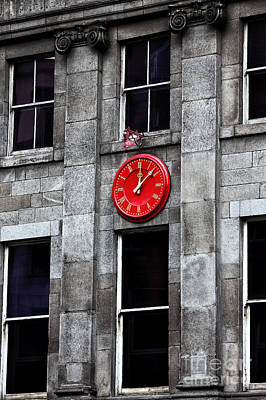 Photograph - Red Clock by John Rizzuto