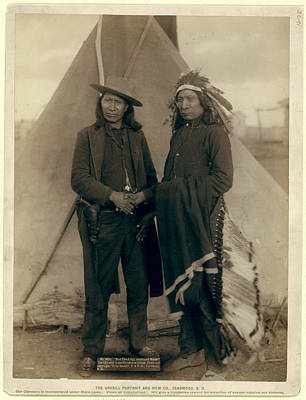 Chief Red Cloud Photograph - Red Cloud And American Horse. The Two Most Noted Chiefs Now by Litz Collection