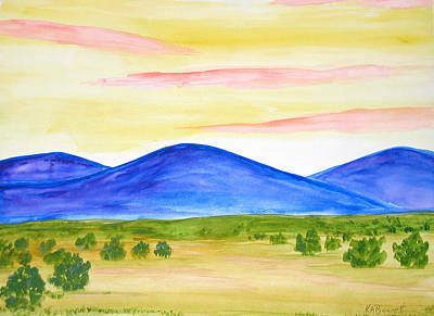 Red Clouds Over Mountains Art Print