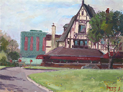 Visitors Painting - Red Coach Inn-restaurant by Ylli Haruni