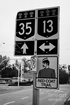red coat trail highway 35 weyburn Saskatchewan Canada Art Print by Joe Fox