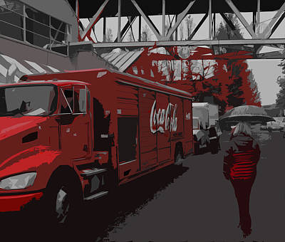 Red Coke Art Print