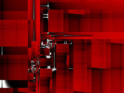Red Construction I Art Print