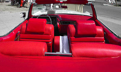 Photograph - Red Convertible by Christy Usilton
