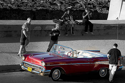 Red Convertible II Art Print