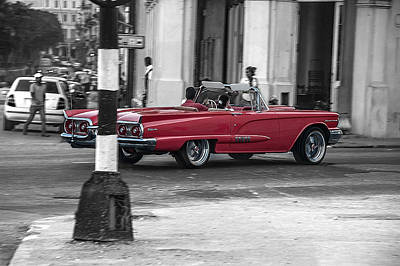 Red Convertible Art Print