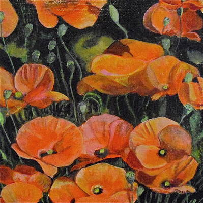 Melissa Torres Painting - Red Corn Poppies by Melissa Torres