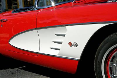 Photograph - Red Corvette by Ann Ranlett