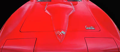 Art Print featuring the photograph Red Corvette by Dave Mills