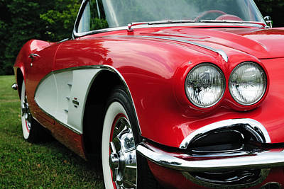 Photograph - Red Corvette by John Kiss