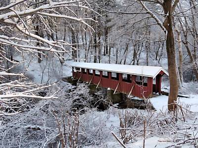 Photograph - Red Covered Bridge by Janice Drew