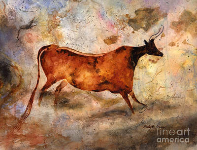 Royalty-Free and Rights-Managed Images - Red Cow by Hailey E Herrera