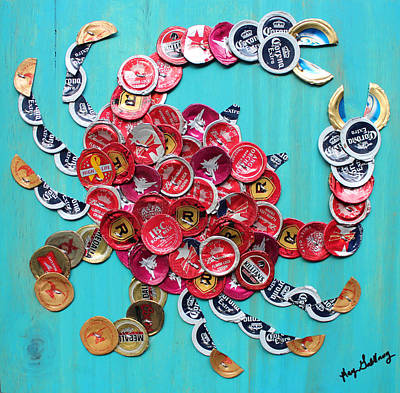 Smirnoff Mixed Media - Red Crab by Kay Galloway