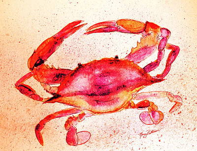 Painting - Red Crab  by Nancy Patterson